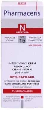 Pharmaceris N-Neocapillaries Opti-Capilaril odmładzający krem pod oczy przeciw obrzękom i cieniom 3