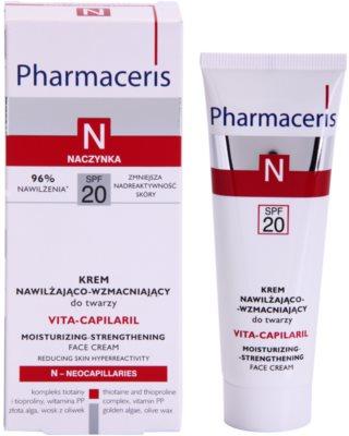 Pharmaceris N-Neocapillaries Vita-Capilaril crema hidratante y fortalecedora para rostro  para pieles sensibles con tendencia a las rojeces 1