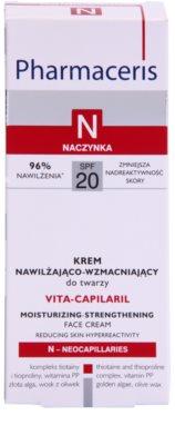 Pharmaceris N-Neocapillaries Vita-Capilaril crema hidratante y fortalecedora para rostro  para pieles sensibles con tendencia a las rojeces 2
