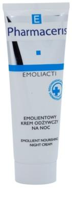 Pharmaceris E-Emoliacti creme de noite nutritivo para apaziguamento e reforçamento da pele sensível