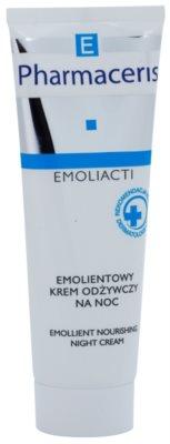 Pharmaceris E-Emoliacti tápláló éjszakai krém az érzékeny bőr megnyugtatásához és erősítéséhez