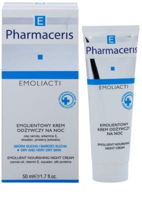 Pharmaceris E-Emoliacti подхранващ нощен крем за успокояване и подсилване на чувствителната кожа 1