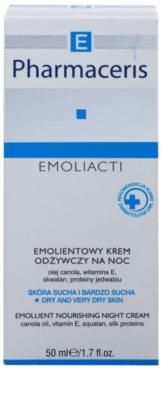 Pharmaceris E-Emoliacti подхранващ нощен крем за успокояване и подсилване на чувствителната кожа 2