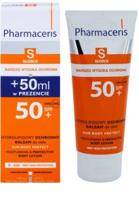 Pharmaceris S-Sun захисне молочко для тіла зі зволожуючим ефектом SPF 50+ 1