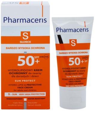 Pharmaceris S-Sun crema protectora hidrolipídica SPF 50+ 1