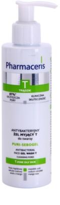 Pharmaceris T-Zone Oily Skin Puri-Sebogel antibakterielles Reinigungsgel für problematische Haut, Akne
