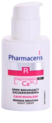 Pharmaceris R-Rosacea Calm-Rosalgin нічний заспокоюючий крем для чутливої шкіри схильної до почервонінь 1
