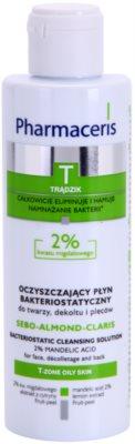 Pharmaceris T-Zone Oily Skin Sebo-Almond-Claris água de limpeza antibacteriana para o rosto, decote e costas para pele problemática