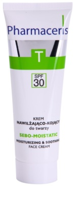 Pharmaceris T-Zone Oily Skin Sebo-Moistatic hydratisierende und beruhigende Creme für durch die Akne Behandlung trockene und irritierte Haut