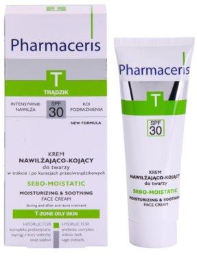 Pharmaceris T-Zone Oily Skin Sebo-Moistatic hidratáló és nyugtató krém a pattanások kezelése által kiszárított és irritált bőrre 1