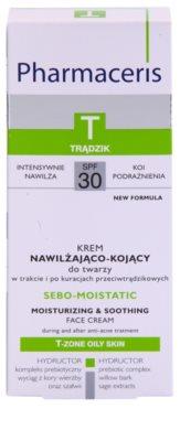 Pharmaceris T-Zone Oily Skin Sebo-Moistatic hidratáló és nyugtató krém a pattanások kezelése által kiszárított és irritált bőrre 2