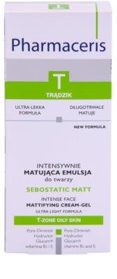 Pharmaceris T-Zone Oily Skin Sebostatic Matt emulsión matificante  para pieles grasas con tendencia acnéica 2