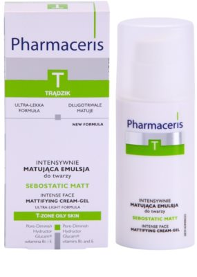 Pharmaceris T-Zone Oily Skin Sebostatic Matt emulsión matificante  para pieles grasas con tendencia acnéica 3