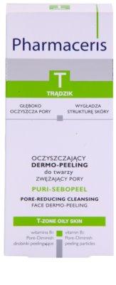 Pharmaceris T-Zone Oily Skin Puri-Sebopeel gel de curatare exfoliant pentru tenul gras, predispus la acnee 2