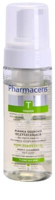 Pharmaceris T-Zone Oily Skin Puri-Sebostatic spuma de curatat pentru piele uscata si iritata in urma tratamentului antiacneic