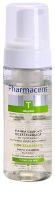 Pharmaceris T-Zone Oily Skin Puri-Sebostatic очищаюча пінка для шкіри висушеної та подразненої лікуванням акне