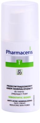 Pharmaceris T-Zone Oily Skin Sebostatic Day crema de día para cerrar los poros para pieles problemáticas y con acné
