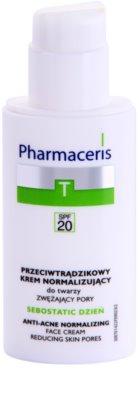 Pharmaceris T-Zone Oily Skin Sebostatic Day crema de zi pentru pori  pentru ten acneic 1