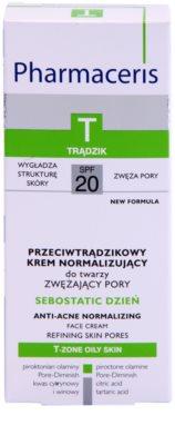 Pharmaceris T-Zone Oily Skin Sebostatic Day crema de zi pentru pori  pentru ten acneic 3