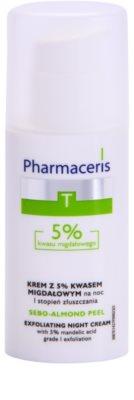 Pharmaceris T-Zone Oily Skin Sebo-Almond Peel Nachtcreme zur Regulation und Reinigung für einen gleichmäßigen Teint