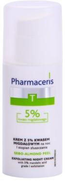 Pharmaceris T-Zone Oily Skin Sebo-Almond Peel нощен регулиращ и почистващ крем за лице за равномерен тен на кожата