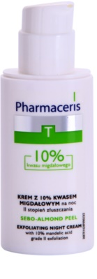 Pharmaceris T-Zone Oily Skin Sebo-Almond Peel noční regulační a čisticí pleťový krém pro obnovu povrchu pleti 1