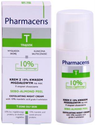 Pharmaceris T-Zone Oily Skin Sebo-Almond Peel noční regulační a čisticí pleťový krém pro obnovu povrchu pleti 2