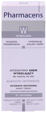 Pharmaceris W-Whitening Albucin-Intesive Intensivcreme für die Nacht  für Pigmentflecken 2