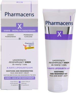 Pharmaceris X-Rays - Skin After Radiotherapy X-Rays Liposubtilium regeneráló és nyugtató krém arcra és testre 1