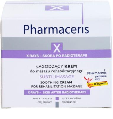 Pharmaceris X-Rays - Skin After Radiotherapy Subtilimasage upokojujúci masážny krém pre regeneráciu a obnovu pleti 2