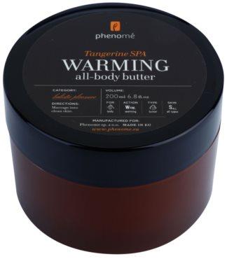 Phenomé Holistic Pleasure Tangerine Spa zahřívací tělové máslo