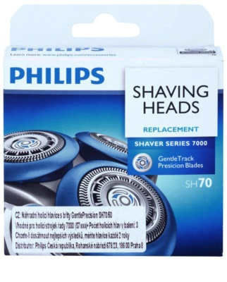 Philips Shaver Series 7000 Gentle Track Precision SH 70/50 recarga de lâminas 3 pçs 10