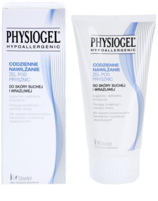 Physiogel Daily MoistureTherapy gel de banho hipoalergénico para peles secas e sensíveis 1