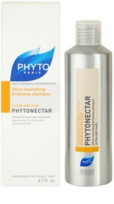 Phyto Phytonectar champú nutritivo para aportar brillo al cabello seco y frágil 2