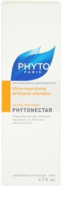 Phyto Phytonectar champú nutritivo para aportar brillo al cabello seco y frágil 3