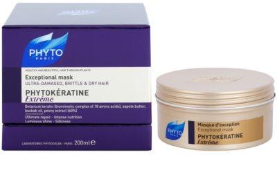 Phyto Phytokératine Extreme máscara reparadora para cabelos quebradiços e muito danificado 2