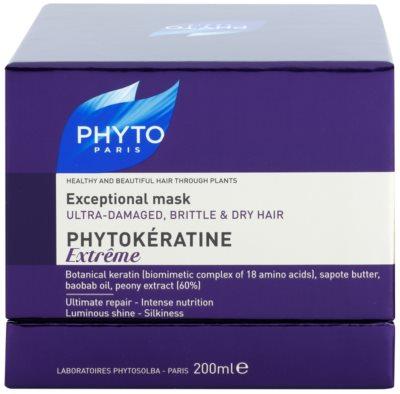 Phyto Phytokératine Extreme máscara reparadora para cabelos quebradiços e muito danificado 3