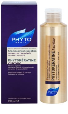 Phyto Phytokératine Extreme champú renovador para cabello quebradizo y maltratado 1