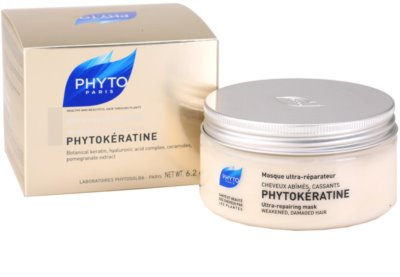 Phyto Phytokératine máscara renovadora para cabelo danificado 2