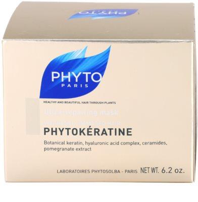 Phyto Phytokératine máscara renovadora para cabelo danificado 4