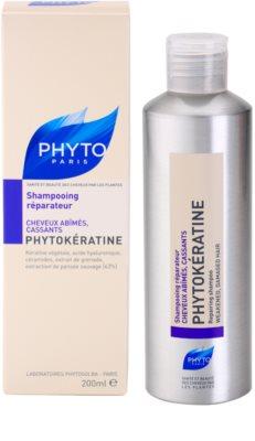 Phyto Phytokératine відновлюючий шампунь для пошкодженого волосся 2