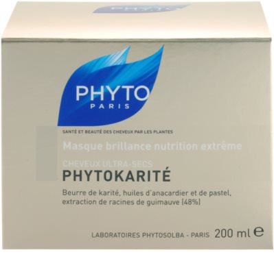Phyto Phytokarité Maske mit ernährender Wirkung für sehr trockene Haare 4