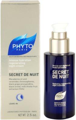 Phyto Secret De Nuit crema regeneratoare de noapte pentru toate tipurile de par 2