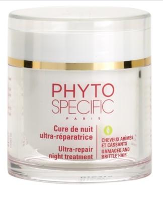 Phyto Specific Specialized Care éjszakai regeneráló maszk a sérült, töredezett hajra