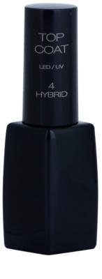 Pierre René Nails Hybrid финален лак за нокти от гел с бляскав ефект
