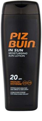 Piz Buin In Sun crema hidratante bronceadora  SPF 20