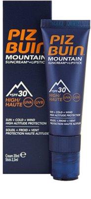 Piz Buin Mountain védőkrém arcra és ajakbalzsam 2 az 1-ben SPF 30
