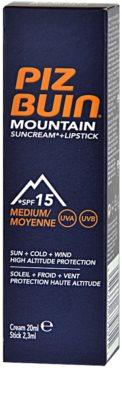 Piz Buin Mountain crema protectora para rostro y bálsamo de labios 2 en 1 SPF 15 2