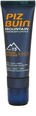 Piz Buin Mountain crema protectora para rostro y bálsamo de labios 2 en 1 SPF 15 1