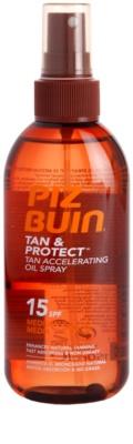 Piz Buin Tan & Protect óleo protetor para acelerar o bronzeado SPF 15